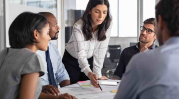 Ausarbeitung der strategischen Ausrichtung durch eine Marketingexperten